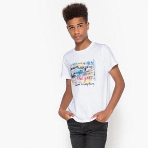 T-Shirt mit Graffiti-Print, 10-16 Jahre La Redoute Collections