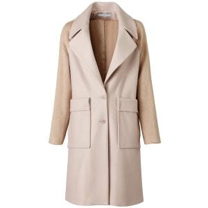 Manteau bi-matière coupe droite CORALIE MARABELLE X LA REDOUTE MADAME