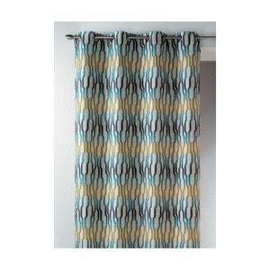 rideau bleu turquoise la redoute. Black Bedroom Furniture Sets. Home Design Ideas