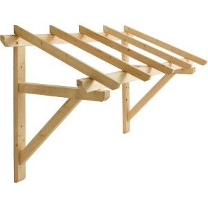 Auvent en bois pour porte d'entrée JARDIPOLYS
