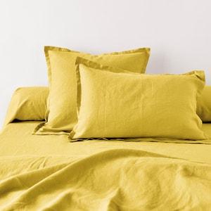 Jednolite poszewki na poduszki z czystego pranego lnu La Redoute Interieurs