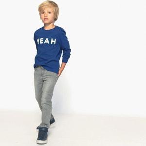 Sweater met ''Yeah'' motief 3-12 jr La Redoute Collections