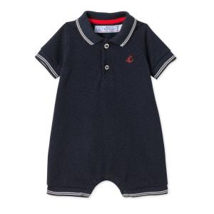 Combinaison courte bébé garçon en jersey piqué PETIT BATEAU