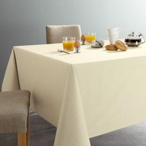 Nappe unie pur coton sergé, traité anti-taches SCENARIO
