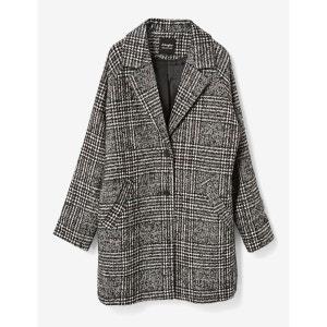 manteau en lainage jacquard JENNYFER