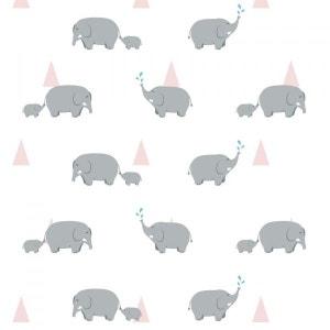 Papier peint enfant : Éléphants DECOLOOPIO