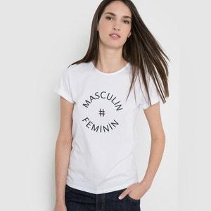 T-shirt con scritta in cotone bio R essentiel