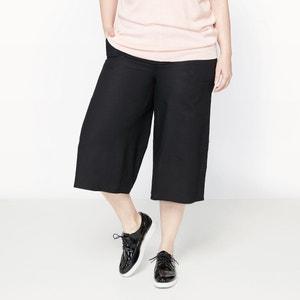 Calças curtas em linho e algodão CASTALUNA