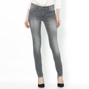 Jeans slim stretch, cintura normal, comprimento 32 cm R essentiel
