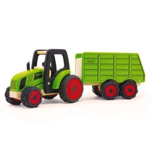 Tracteur et remorque en bois PINTOY