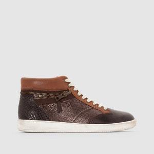 Zapatillas de caña alta de piel Happyzip KICKERS