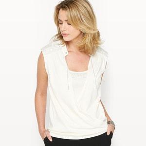 T-shirt em algodão & modal ANNE WEYBURN