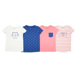 Lot de 4 t-shirts imprimés 3-12 ans La Redoute Collections
