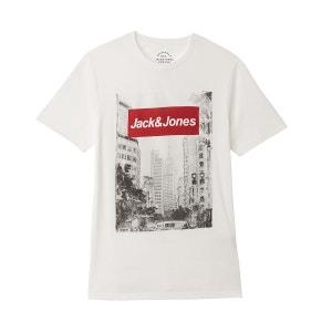 T-shirt col rond motif devant JACK & JONES