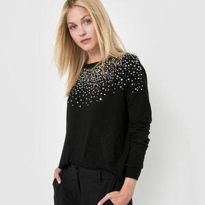 Jersey de cuello redondo y detalles brillantes MOLLY BRACKEN