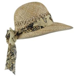 Chapeau casquette paille Ruban Sina beige BAISERS SALES