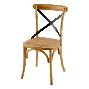 Chaise bistrot en bois d'orme (Lot de 2) ZAGO
