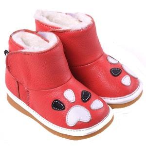 Chaussures à sifflet | Bottes fourrées rose foncé CAROCH