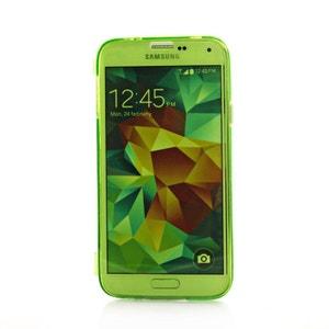 Etui livre en silicone vert pour Samsung Galaxy S5 G900 COQUEDISCOUNT