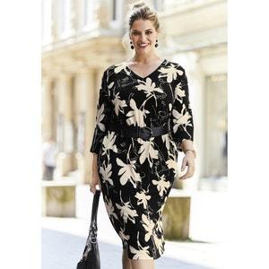 Floral Printed Midi Shift Dress ULLA POPKEN