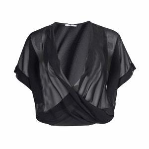 Wrapover-Style Bolero MAT FASHION