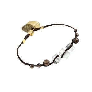 Bracelet perlé en soie et cristal swarovski SARABARTKO