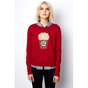 Trui in fijn tricot met ronde hals COMPANIA FANTASTICA