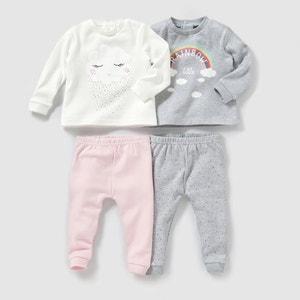 Pijama 2 peças em algodão (lote de 2), 0-3 anos R mini