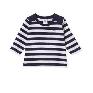 T-shirt bébé garçon manches longues rayé PETIT BATEAU
