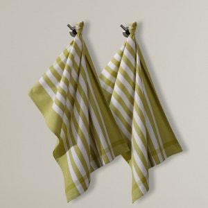 Pack of 2 Pure Cotton  Striped Tea Towels La Redoute Interieurs