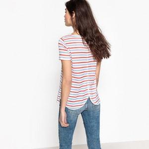 T-shirt a righe, scollo rotondo, maniche corte TOM TAILOR