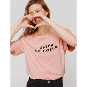 T-shirt Boyfit à message 'SISTER DE COEUR' BIZZBEE