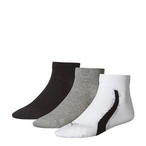 Lote de 3 pares de calcetines cortos lisos PUMA