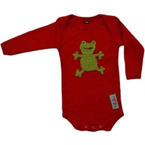 Body bébé coton customisé avec grenouille brodée RIKIKI KIDS