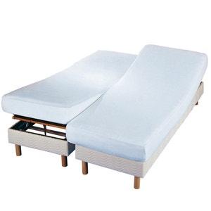 Protector de colchón doble de felpa antiácaros La Redoute Interieurs