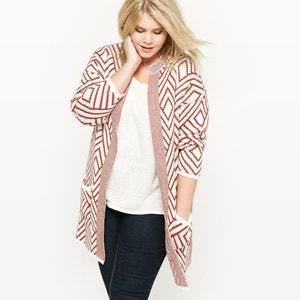 Żakardowy długo sweter CASTALUNA