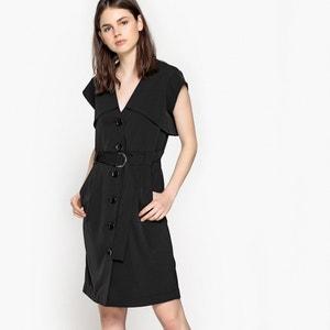 Vestido abotonado delante con cinturón, estilo trench La Redoute Collections