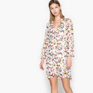 Korte jurk met bloemenprint en lange mouwen SEE U SOON