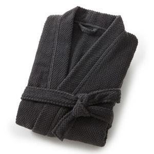 Albornoz cuello kimono hombre 100% algodón con motivo en relieve 350g/m² SCENARIO