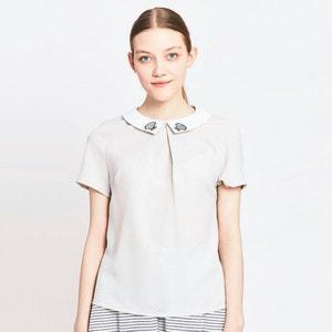 Blusa de manga corta con detalle en el cuello MIGLE+ME