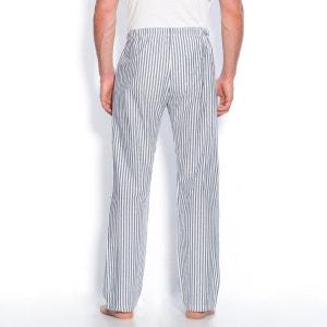 Gestreepte pantalon in popeline van katoen La Redoute Collections