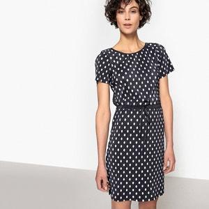 Plisowana sukienka w groszki, długość 3/4 VILA