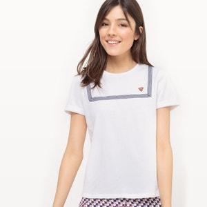 T-shirt com gola redonda, lisa MADEMOISELLE R
