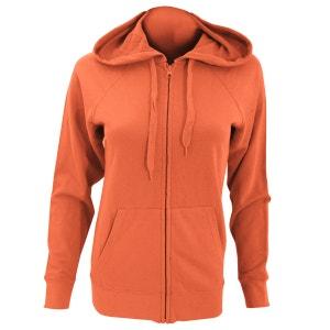 Sweat shirt à capuche et fermeture zippée FRUIT OF THE LOOM