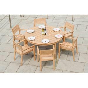 Salon de jardin 6 places rond Tivoli en roble FSC ALEXANDER ROSE DESIGNER