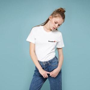 Tee shirt col rond imprimé, manches courtes RAD