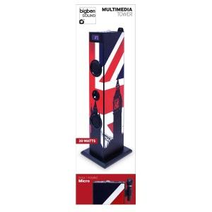 Tour multimédia enfant décor  drapeau  anglais  MP3 20 Watts USB+ Micro BIG BEN