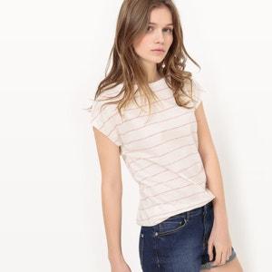 Gestreept T-shirt in BIO katoen R essentiel