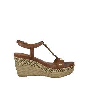 Sandálias de cunha em pele 28322-28 TAMARIS