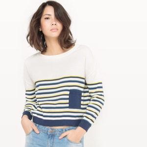 Sweter w paski o luźnym, kwadratowym kroju R édition